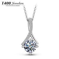T400镶嵌施华洛世奇锆石S925项链女款时尚流行银饰品星空传说 11167