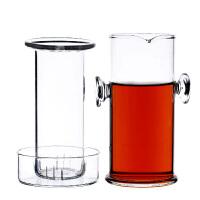 230ML双耳玻璃泡茶器过滤带盖功夫茶具套装耐热玻璃杯加厚红茶杯