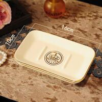 肥皂盒沥水创意简约大号陶瓷卫生间浴室用品欧式个性香皂盒托皂碟Q 05010 皇冠肥皂盒