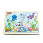 【当当自营】费雪 Fisher Price 海洋动物乐园拼图拼板 儿童益智智力木制积木玩具 FP7002B