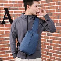 男士胸包帆布单肩包斜挎包斜跨包新款潮运动休闲小包