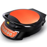 电饼铛双面家用悬浮加热煎烤烙饼机蛋糕机电饼档 红色+黑色