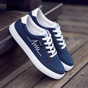 2017春季新款男鞋子透气帆布鞋韩版板鞋运动鞋学生潮鞋男士休闲鞋