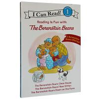 顺丰包邮 I Can Read The Berenstain Bears汪培�E推荐阶段英文原版 贝贝熊三本套装 贝贝熊