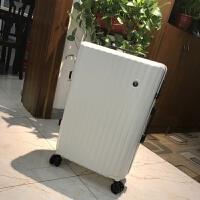 超大加厚旅行箱28寸pc拉链拉杆箱大容量行李箱皮箱子30寸男女出国 乳白色 【送透明箱套】
