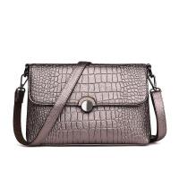 女士包包新款时尚韩版百搭软皮小包中年女包妈妈包单肩斜挎包 古铜色 (SL3126)