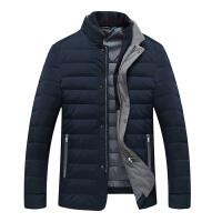 伯思凯2015冬装新款男装 商务大码白鸭绒纯色男士羽绒服 立领外套