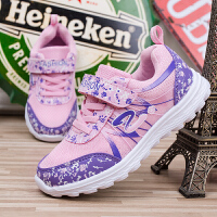 女童鞋春秋2018新款小学生女孩透气网面跑步鞋儿童运动鞋萌妹子一定会喜欢