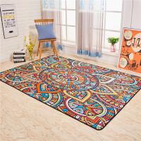 客厅地毯沙发茶几卧室床边满铺大地毯新款衣帽间彩色垫子民族风