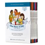 One Story A Day 每天一个磨耳朵小故事 儿童英语 英文原版 含12CD365个英文故事