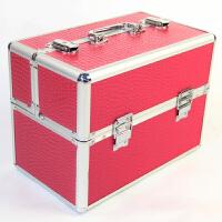 大号化妆箱子手纹绣工箱多层化妆包化妆工美甲纹绣箱