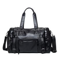 新款男包斜挎包旅行包男单肩包休闲行李包 大容量男士手提包横款男式