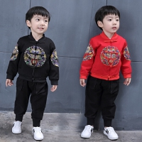 过年新款中国风男童潮外套宝宝复古可爱衣服中小儿童季唐装夹克