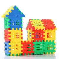 塑料积木玩具3-6周岁大块房子拼装插女孩男孩益智1-2周岁儿童玩具