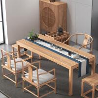 功夫茶几客厅小茶桌新中式茶桌禅意功夫茶桌椅榆木泡茶桌茶台实木家用客厅小户型 组装