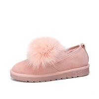 camel骆驼女鞋冬季新款 平跟可爱甜美少女时尚舒适女单鞋