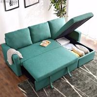 日式北欧沙发床多功能客厅小户型双人棉麻布艺沙发带收纳 1.8米-2米