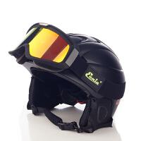 男大码一体成型保暖运动装备 手套滑雪头盔