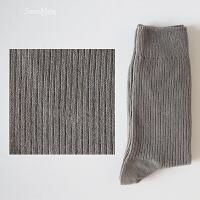长袜男士袜子男秋冬季纯棉袜全棉四季款中筒袜黑色商务男袜 均码