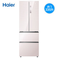 Haier海尔 BCD-335WDECU1 335升法式多门彩晶玻璃无霜变频四开门冰箱