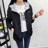 20181020063873018秋装新款女风衣外套学院风长袖韩版学生宽松两面穿薄款短外套 X