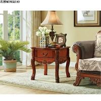欧式实木带抽边几 沙发边桌电话机 角几储物桌 小咖啡桌 小桌子