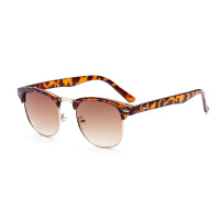 箭头金属腿潮防紫外线太阳镜明星款男士眼镜时尚复古墨镜圆形太阳眼镜