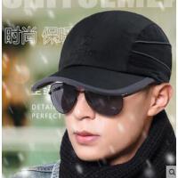 韩版棒球帽男护耳保暖鸭舌帽休闲帽子男加绒字母运动帽休闲帽