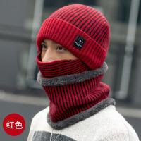男帽子冬天毛线帽韩版加绒保暖针织帽户外男士套头帽防寒帽