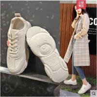 老爹鞋女冬季新款加绒高帮小白鞋明星同款小熊鞋网红运动鞋