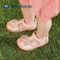 迷你巴拉巴拉凉鞋2021夏季新款女童防滑蝴蝶结易穿脱透气防滑鞋子