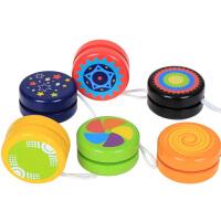 溜溜球木质儿童彩色YOYO悠悠球幼儿园学生小朋友经典玩具