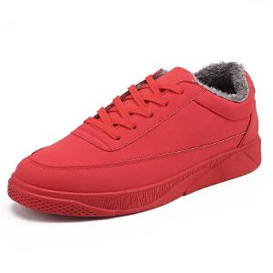 新款男鞋子秋冬季板鞋男士休闲运动鞋男韩版潮加绒保暖棉鞋冬天