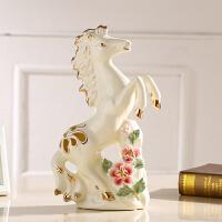中式家居装饰品摆件马客厅电视柜办公室摆设工艺品开业礼物品