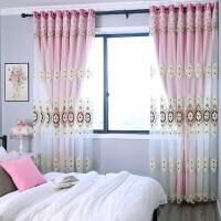 欧式客厅窗帘成品卧室带布纱一体双层飘窗八角窗凸窗落地窗家装软饰帘艺隔断