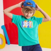 【夏清仓1件5折价:44.5】361°361度童装 男女同款T恤2021年夏季新款中大童短袖针织衫N52121212