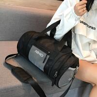 健身包运动包男女单肩包斜挎手提训练包大容量背包旅行包干湿分离 中