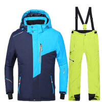 拼色滑雪衣裤零下30度 男士滑雪服