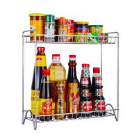 厨房置物架子2层调味架厨房用品收纳架层架调料佐料酱油盒