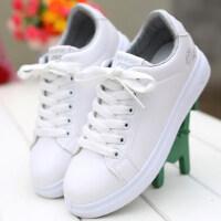 女士白色运动休闲鞋子 韩版学院风平底板鞋女 新款小白鞋学生球鞋