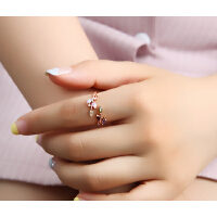 戒指 女 时尚 日韩简约 开口戒指 女 食指 个性 装饰 韩版 玫瑰金 配饰 指环 饰品 百搭