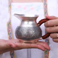 红兔子999个人银壶茶具手工祥龙纳珠公道杯功夫茶具配件银茶具足银配件过滤茶海分茶器带茶漏套装
