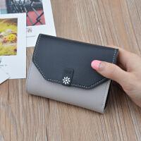 短款钱包女士韩版新款女学生迷你小钱包三折钱夹多卡位零钱包包潮