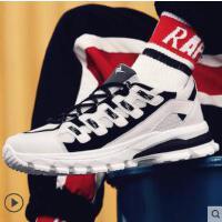 新品运动鞋男士跑步小白鞋拼色潮鞋韩版男鞋潮流板鞋