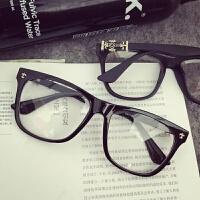 201808240039409982018新品同款眼镜框女韩版潮圆脸素颜平光镜男复古克罗心眼镜架装饰眼镜可配近视