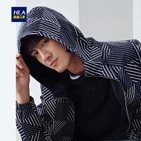 HLA/海澜之家连帽款双面穿夹克2019春季新品时尚条纹夹克外套男