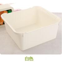 加厚洗�盆洗漱洗�_洗衣盆浴室�N房洗菜盆子塑料�L方形�和�收�{框