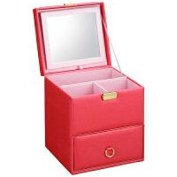 化妆箱手多层木抽屉式本化妆品收纳盒包家用大号带镜子