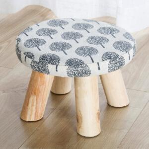 亿家达小方矮凳子布艺沙发凳时尚蘑菇凳家用凳子板凳椅子凳子庭院用