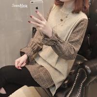 社会女士毛衣女装春装2018女新款韩版中长款打底衫女春季百搭潮